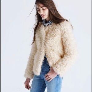 NWT Madewell sézane® faux-fur ava jacket